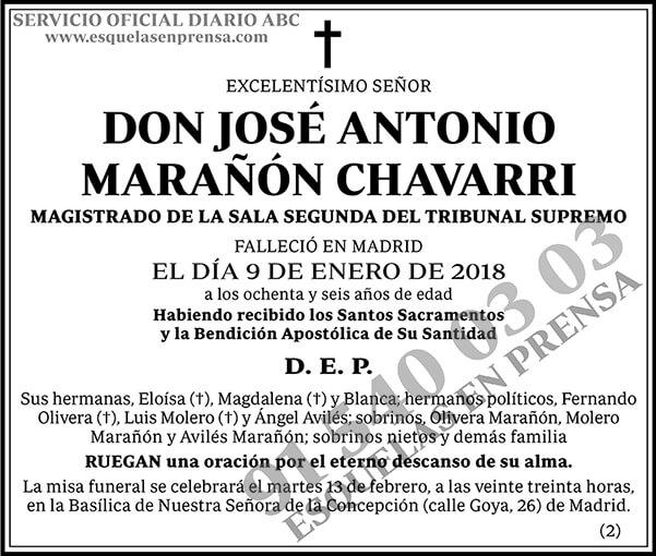 José Antonio Marañón Chavarri
